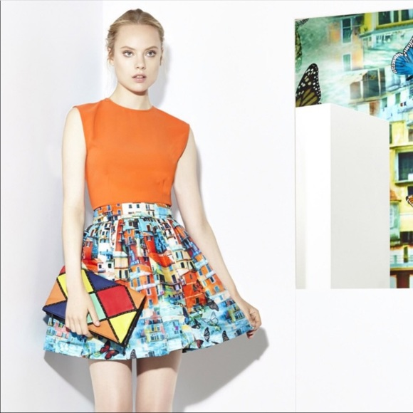 ca34e759bf11 Alice + Olivia Butterfly Paradise Venetian Skirt 6